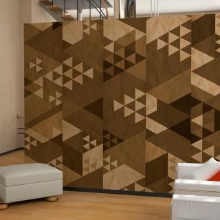 Φωτοταπετσαρία - Brown patchwork