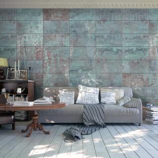 Φωτοταπετσαρία - Turquoise Concrete