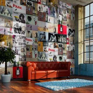 Φωτοταπετσαρία - Banksy - a collage