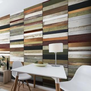 Φωτοταπετσαρία - Rainbow-colored wood tones
