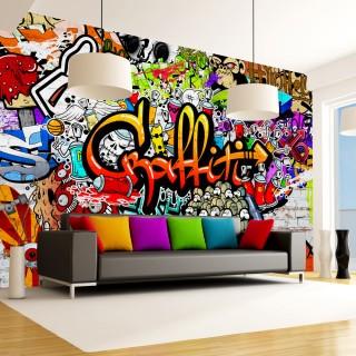 Φωτοταπετσαρία - Colorful Graffiti