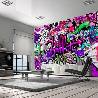 Φωτοταπετσαρία -  Purple Graffiti