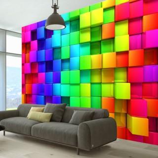 Φωτοταπετσαρία - Colourful Cubes