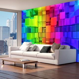 Αυτοκόλλητη φωτοταπετσαρία - Colour jigsaw