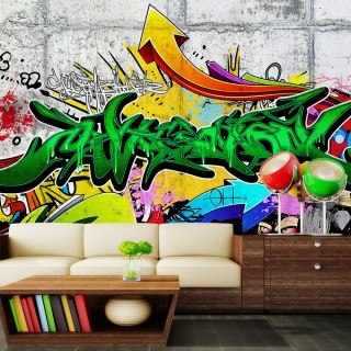 Αυτοκόλλητη φωτοταπετσαρία - Urban Graffiti