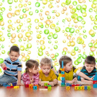 Φωτοταπετσαρία -  Fun Bubbles