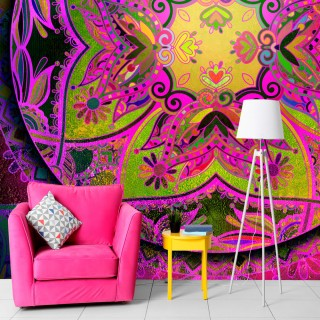 Φωτοταπετσαρία - Mandala: Pink Expression