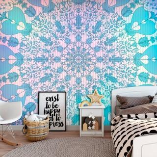 Αυτοκόλλητη φωτοταπετσαρία - Girly Mandala (Blue)