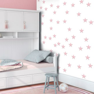 Φωτοταπετσαρία - Pink Stars
