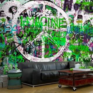 Φωτοταπετσαρία - Green Graffiti