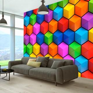 Αυτοκόλλητη φωτοταπετσαρία - Rainbow Geometry