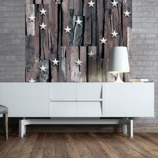 Φωτοταπετσαρία - Stars on Wood
