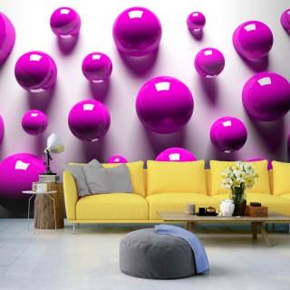 Φωτοταπετσαρία - Purple Balls