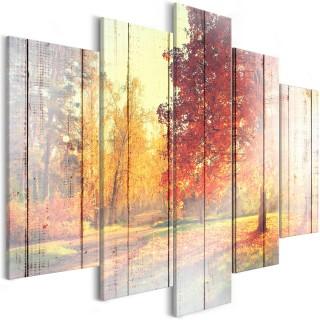 Πίνακας - Autumn Sun (5 Parts) Wide