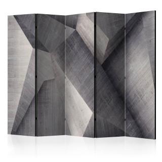 διαχωριστικό με 5 τμήματα - Abstract concrete blocks II [Room Dividers]