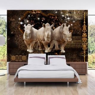 Αυτοκόλλητη φωτοταπετσαρία - Golden Rhino