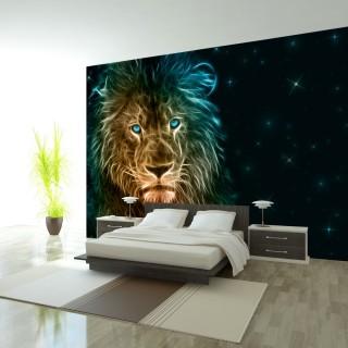 Αυτοκόλλητη φωτοταπετσαρία - Abstract lion...