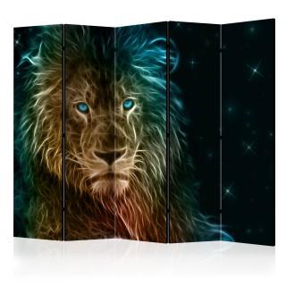 διαχωριστικό με 5 τμήματα - Abstract lion... II [Room Dividers]
