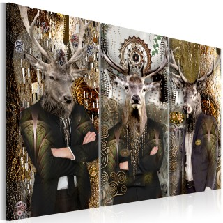 Πίνακας - Animal Trio (3 Parts) Brown