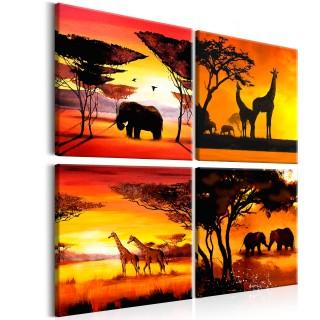 Πίνακας - African Animals (4 Parts)