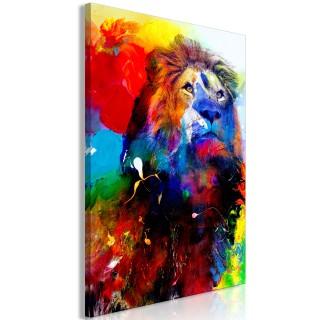 Πίνακας - Lion and Watercolours (1 Part) Vertical