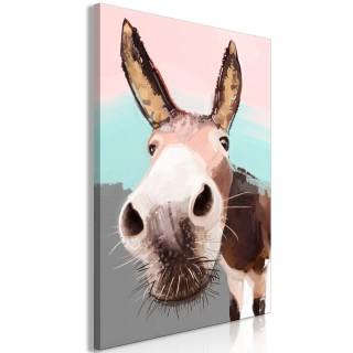 Πίνακας - Curious Donkey (1 Part) Vertical