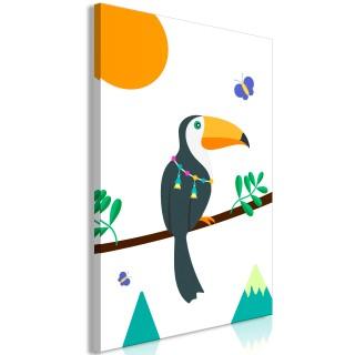 Πίνακας - Toucan And Butterflies (1 Part) Vertical
