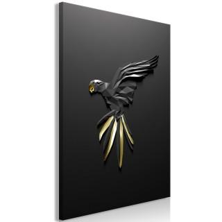 Πίνακας - Black Parrot (1 Part) Vertical