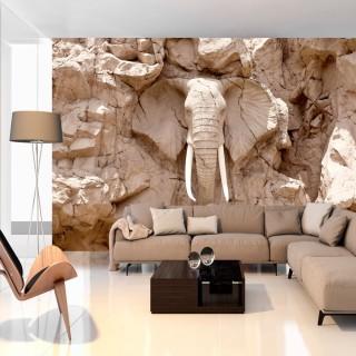 Αυτοκόλλητη φωτοταπετσαρία - Elephant Carving (South Africa)