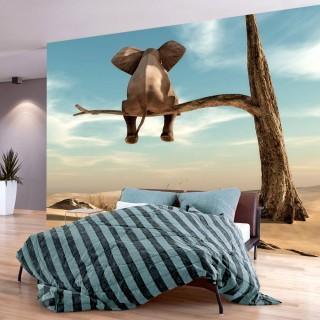 Αυτοκόλλητη φωτοταπετσαρία - Elephant on the Tree