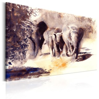 Πίνακας - Watercolour Elephants