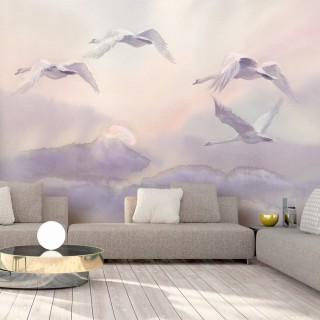 Φωτοταπετσαρία - Flying Swans