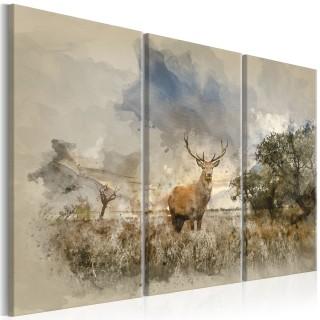 Πίνακας - Deer in the Field I