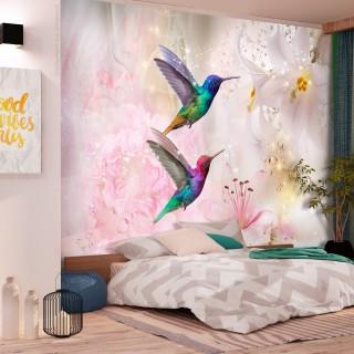Φωτοταπετσαρία - Colourful Hummingbirds (Pink)
