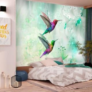 Φωτοταπετσαρία - Colourful Hummingbirds (Green)
