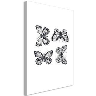 Πίνακας - Four Butterflies (1 Part) Vertical