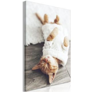 Πίνακας - Lazy Cat (1 Part) Vertical