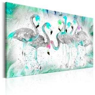Πίνακας - Turquoise Flamingoes