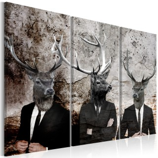 Πίνακας - Deer in Suits I