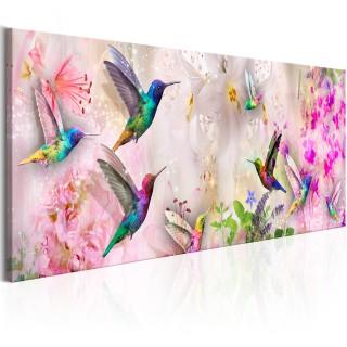 Πίνακας - Colourful Hummingbirds (1 Part) Narrow