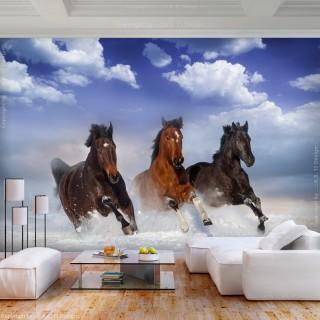 Φωτοταπετσαρία - Horses in the Snow