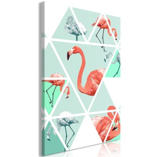 Πίνακας - Geometric Flamingos (1 Part) Vertical