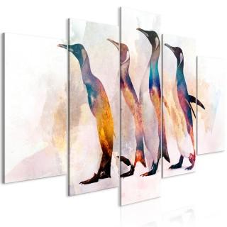 Πίνακας - Penguin Wandering (5 Parts) Wide
