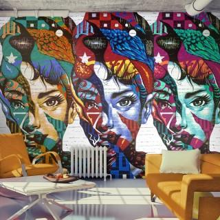Φωτοταπετσαρία - Colorful Faces