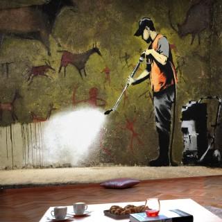 Φωτοταπετσαρία - Banksy - Cave Painting