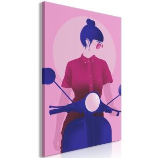 Πίνακας - Girl on Scooter (1 Part) Vertical