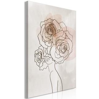 Πίνακας - Anna and Roses (1 Part) Vertical