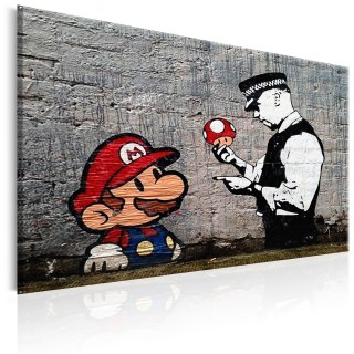 Πίνακας - Mario and Cop by Banksy