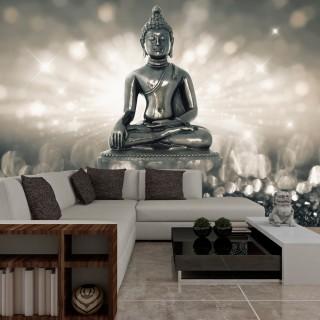 Αυτοκόλλητη φωτοταπετσαρία - Silver Buddha