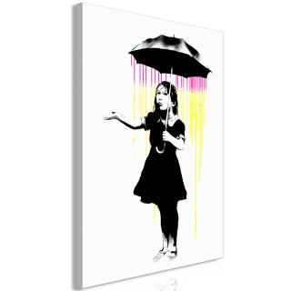 Πίνακας - Girl with Umbrella (1 Part) Vertical